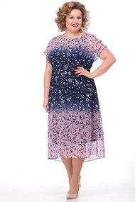 Платье KetisBel 1455 розовый с синим