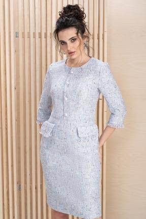 женское вечерние платье юрс, голубое