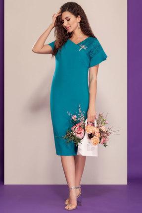 женское повседневные платье dilanavip, бирюзовое