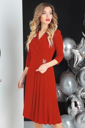 женское вечерние платье sandyna, красное