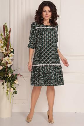 женское повседневные платье solomeya lux, зеленое