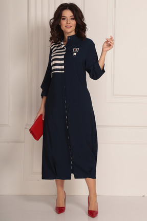 женское повседневные платье solomeya lux, синее