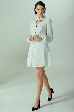 Платье Denissa Fashion 1292 молочные тона
