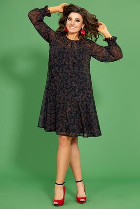 Платье Мублиз 421 темные тона