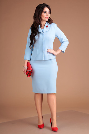 Комплект юбочный Мода-Юрс 2370 голубой