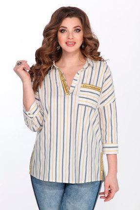 Блузка Matini 41323 желтый с молочным