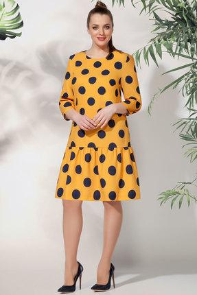 женское повседневные платье багираанта, желтое