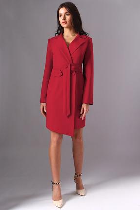 женское повседневные платье миа мода, красное
