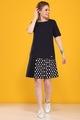Платье B&F 2080 синий, размер 44-52