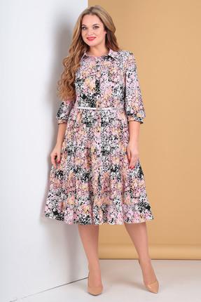 женское повседневные платье moda-versal, розовое