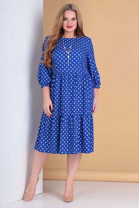 женское повседневные платье moda-versal, синее