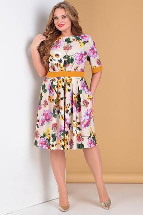 женское повседневные платье moda-versal, бежевое