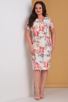 Платье Moda-Versal 2018 розовые тона