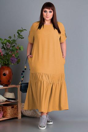 Платье Algranda 3461-2 горчица