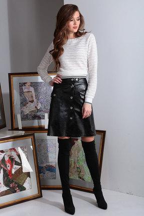 Комплект юбочный Axxa 26134 серый с черным