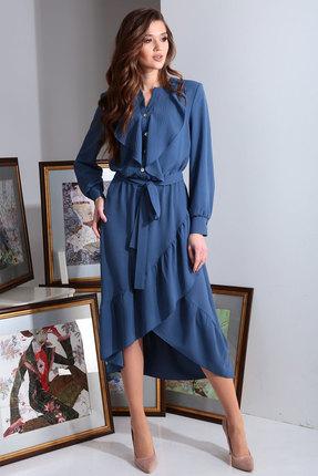 Платье Axxa 55138 синий