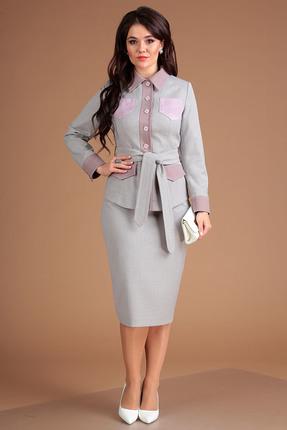 Комплект юбочный Мода-Юрс 2505 серый с розовым