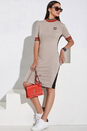 Спортивное платье Lissana 3979 бежевый