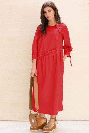 женское повседневные платье faufilure, красное