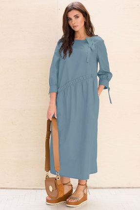женское повседневные платье faufilure, голубое