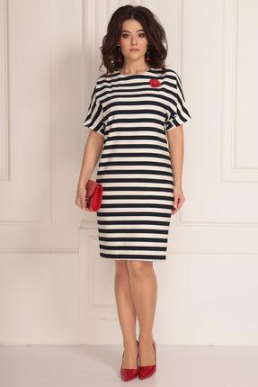 женское платье в полоску solomeya lux, белое