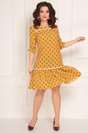 женское повседневные платье solomeya lux, желтое