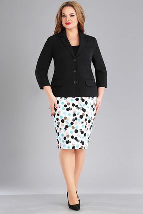 Комплект юбочный FoxyFox 188 черный с разноцветом