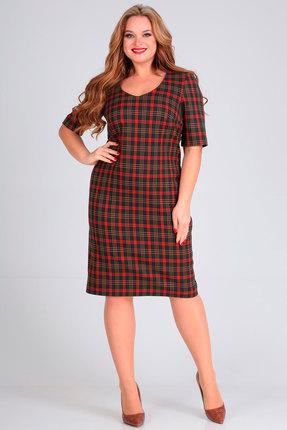 Платье Andrea Style 00258 терракот