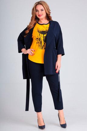 Комплект брючный Andrea Style 00261 синий с желтым