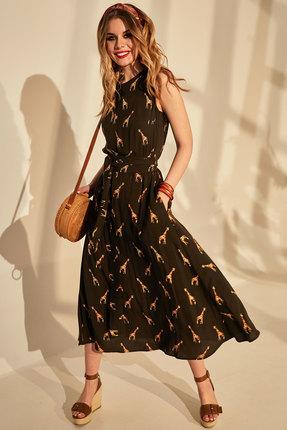 женское повседневные платье golden valley, хаки