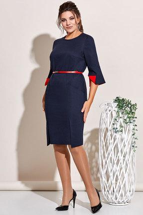 Платье Olga Style с644 синий