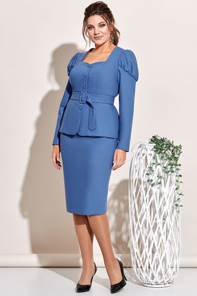Комплект юбочный Olga Style с646 синий