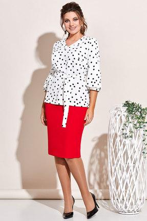 Комплект юбочный Olga Style с650 молочный с красным