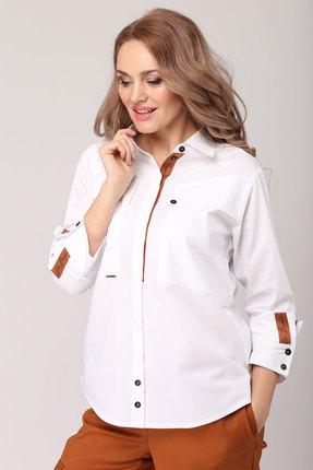 Рубашка Danaida 1830 белый с терракотом