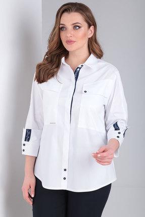 Рубашка Danaida 1830 белый с синим