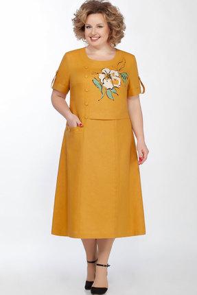 Платье Теллура-Л 1490 горчица