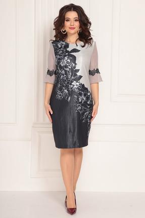 Платье Solomeya Lux 688 серо-синий