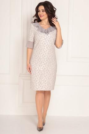 женское вечерние платье solomeya lux, серое
