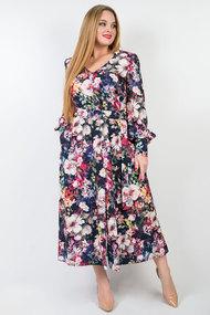 Платье TricoTex Style 08-20 синий с цветами