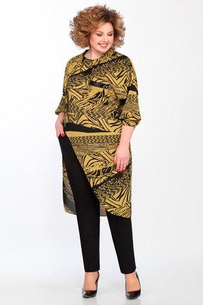 женский брючный костюм matini, желтый