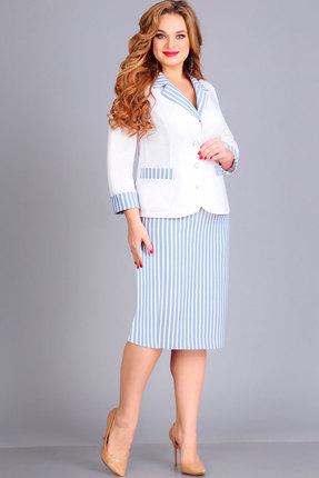 Комплект юбочный Асолия 1177.1 белый+голубой