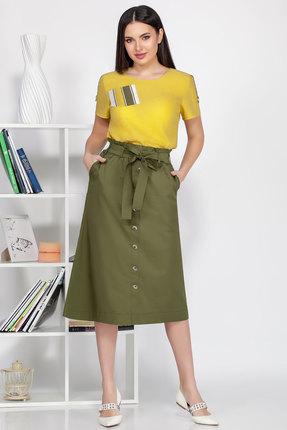 Комплект юбочный Ivelta plus 2492 желтый с зеленым