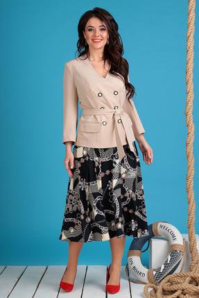 Комплект юбочный Мода-Юрс 2470 бежевые тона