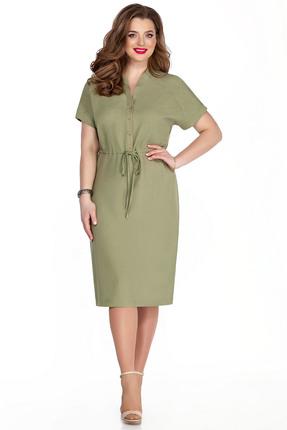 женское повседневные платье teza, зеленое