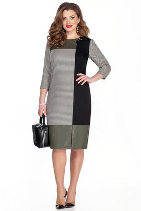 женское платье для офиса teza, зеленое