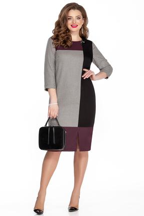 женское платье для офиса teza, бордовое