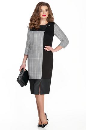 женское платье для офиса teza, серое