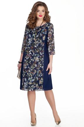 женское вечерние платье teza, синее