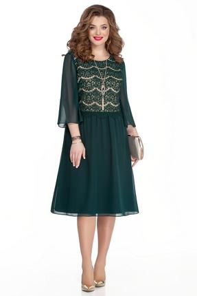 женское вечерние платье teza, зеленое