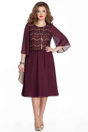 Платье TEZA 327 бордовый